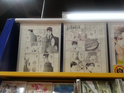 Pages from the Viewfinder series at the Animate Store in Shibuya, Tokyo.