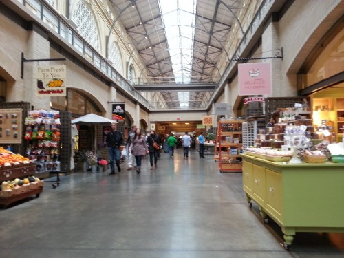The Ferry Building along the Embarcadero in San Francisco is a foodie paradise.